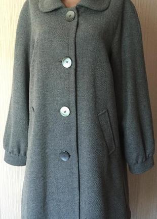 Пальто *marks&spencer* 60% шерсти - 14 р.