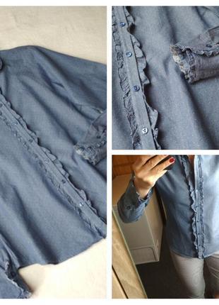 Стильная катоновая рубашка с рюшами, van laack, p. 38/40