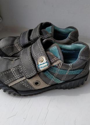 Кожаные туфли кроссовки ecco 26р. 16.5 см.