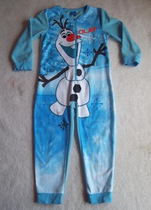 Пижама слип флис frozen  олаф