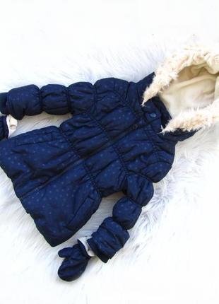 Стильная демисезонная  куртка с капюшоном и варежками young dimension