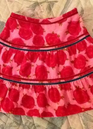 Шикарная бархатная юбка на 2-3 года