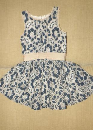 Нарядное платье next из трикотажного кружева