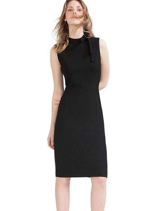 Черное платье карандаш миди zara