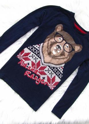 Стильная кофта lupilu свитшот  новогодний свитер мишка новый год