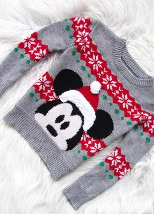 Теплый свитер кофта disney mickey mouse