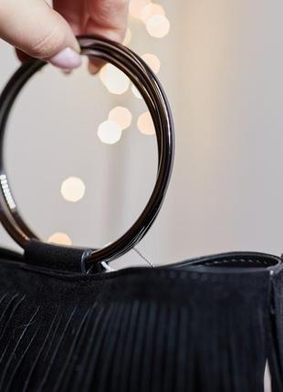 Модная сумка сумочка с бахромой зуики италия4 фото