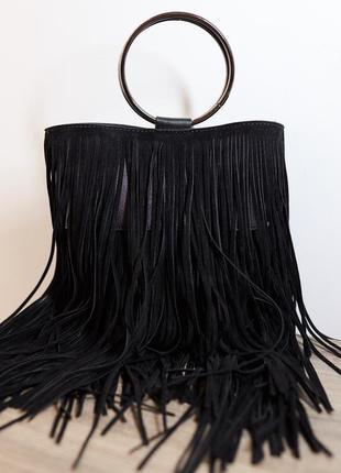 Модная сумка сумочка с бахромой зуики италия2 фото