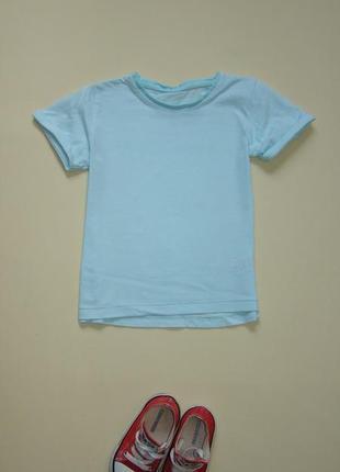 Голубая футболка matalan 3-4 года
