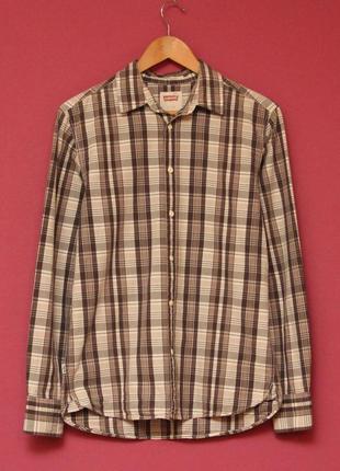 Levis white tab рр m (s бирка) рубашка из хлопка