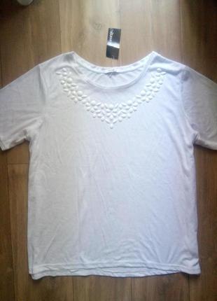 Базовая футболка george с украшением