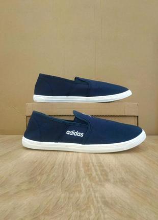 Синие слипоны балетки адидас мокасины темно синие adidas легкие летние