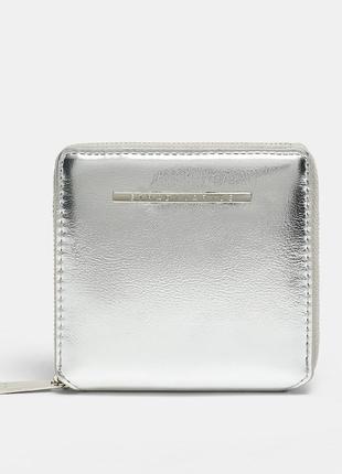 Новый фирменный квадратный кошелек в серебре