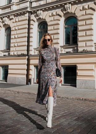 Платье h&m conscius  из 100% шелка!