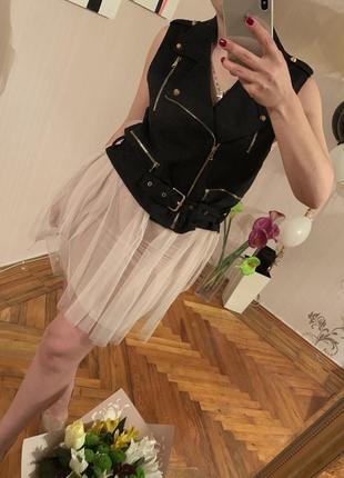 Жилетка-платье  сетка