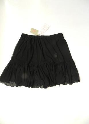 ✅ прозрачная летняя пляжеая юбка сетка с воланом