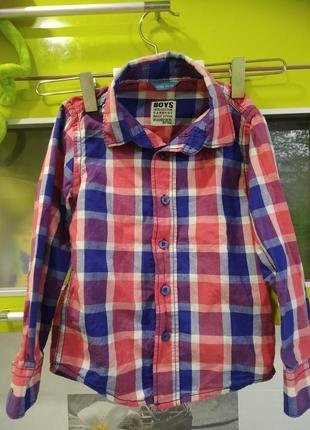 Стильная рубашка на мальчика 98-104 лет