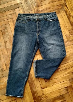 Стильные джинсы бойфренды большого размера