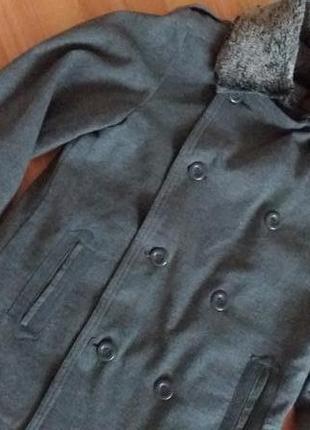 Стильне фірмове  тепленьке   пальто тренч  піджак3 фото