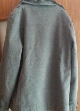 Стильне фірмове  тепленьке   пальто тренч  піджак4 фото