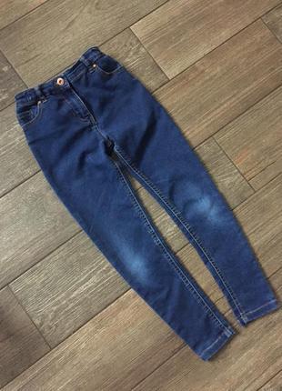 Зауженные джинсы скини, високие.