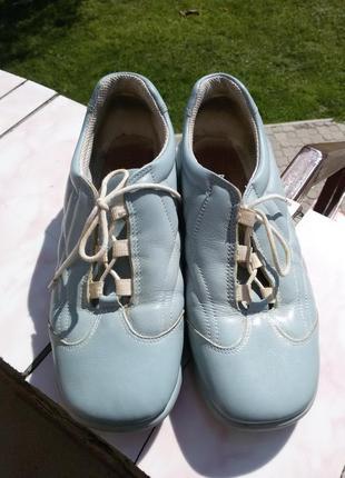 Кожанные туфли ronde