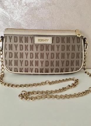 Супер клатч сумка cross body на цепочке ~ donna karan new york ~
