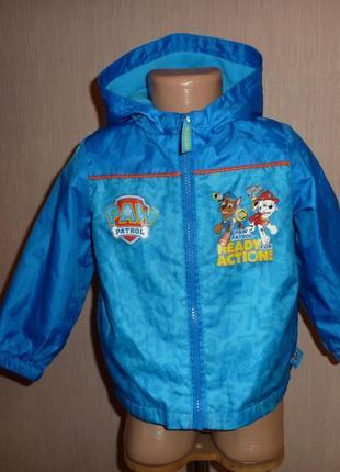 Щенячий патруль куртка, ветровка на флисе на 2-3 года