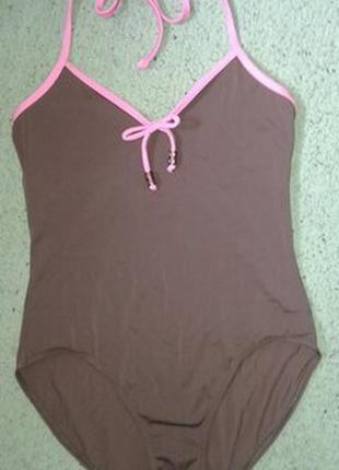 Классный купальник m&s шоколадного цвета, размер 14.