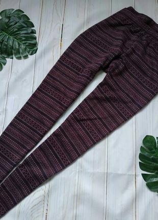 Трикотажные брюки, лосины в орнамент