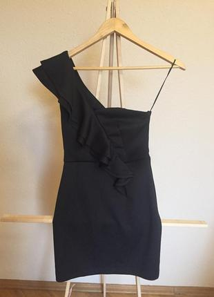 Чёрное платье s-xs