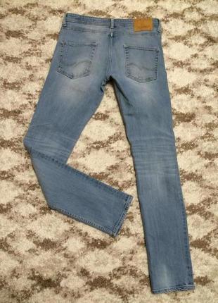 Фирменные голубые джинсы skinny jack&jones originals,яркие штаны,штанишки+подарок3 фото