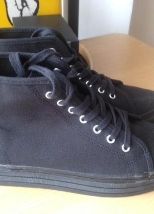 37de3a2072ea ... Кеды на платформе divided by h m размер 38 черные, ботинки осенние ,  высокие кеды на ...