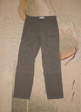 Туристические спортивные штаны/капри columbia titanium р.s