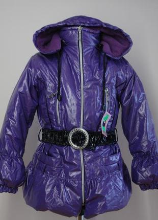 Куртка зимняя для девочки р.128 фиолетовая