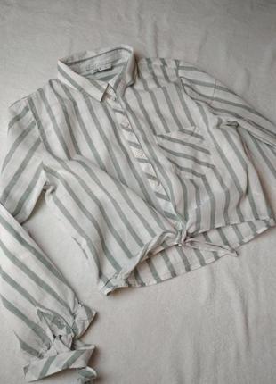 Стильная катоновая рубашка в полоску, only, p. 8-12