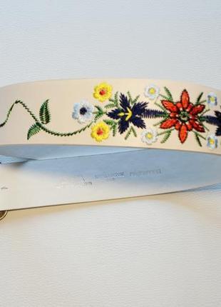 Ремень с вышивкой цветы пояс