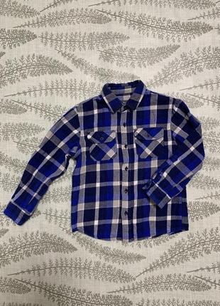Хлопковая рубашка в клетку 110 см