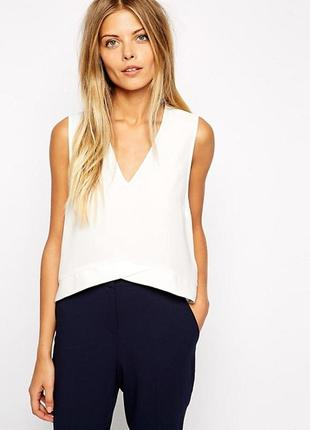 Белая блуза asos,р-р 6