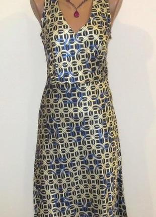Атласное роскошное женственное длинное платье от floeet miss размер: 44-м