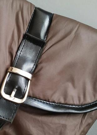 Сумка,сумочка почтальонка коричневая3 фото