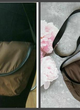 Сумка,сумочка почтальонка коричневая2 фото