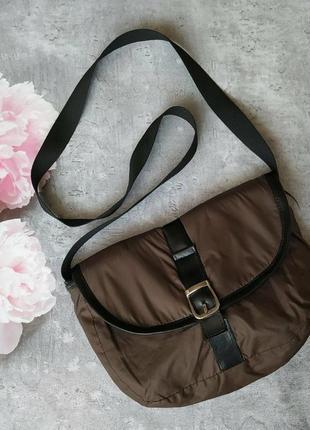 Сумка,сумочка почтальонка коричневая1 фото