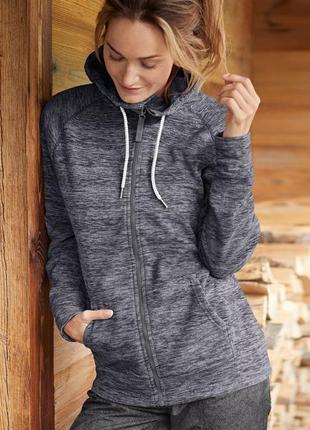 Шикарная курточка- кофта с плотного флиса от тсм tchibo (чибо), германия, размер м