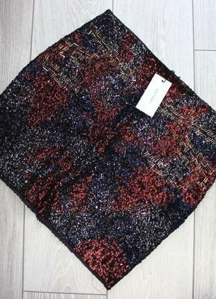 Вечерняя юбочка softgrey р. l  новая. паетки,бисер, юбка с декором.
