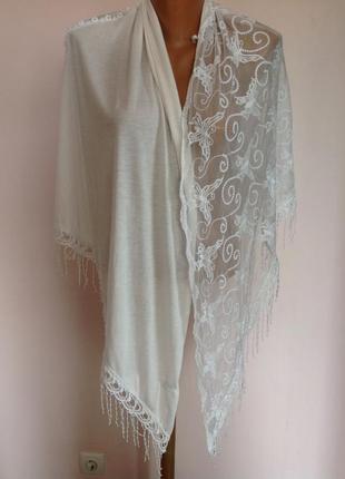 Красивый комбинированный шарф. brend la halle