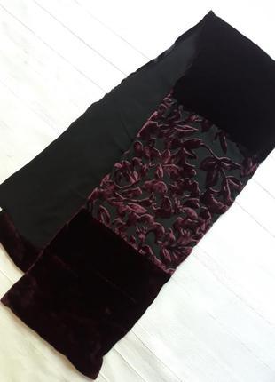 Jones брендовый бархатный#плюшевый#шелковый шарф#шарфик.