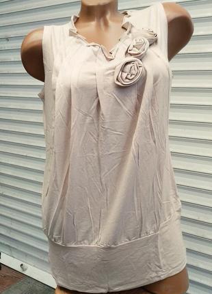 Шикарная блузка безрукавка