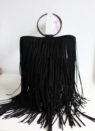 Модная сумка сумочка с бахромой зуики италия