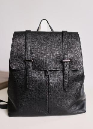 Рюкзак сумка натуральная кожа, италия vera pelle